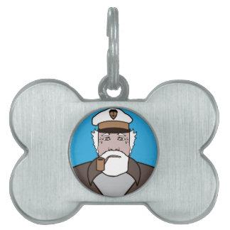 大尉色のベクトル ペットネームタグ
