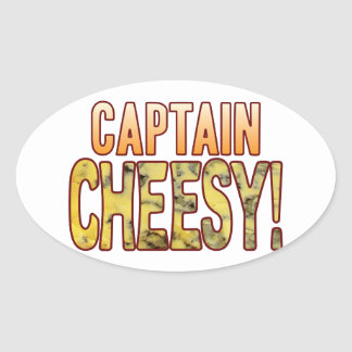 大尉Blue Cheesy 楕円形シール