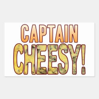 大尉Blue Cheesy 長方形シール