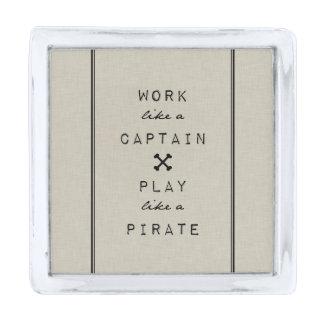 大尉Play Like Pirateのような仕事 シルバー ラペルピン
