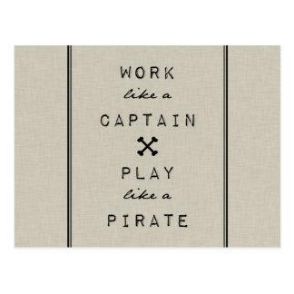 大尉Play Like Pirateのような仕事 ポストカード