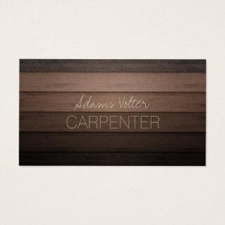 大工の大工仕事の木工事のサービス業カード 名刺