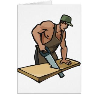 大工の挨拶状 カード