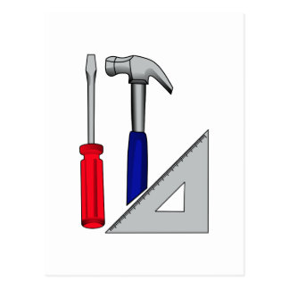 大工仕事のロゴ ポストカード