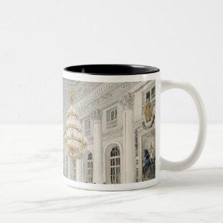 大広間の冬宮殿、セント・ピーターズバーグ ツートーンマグカップ