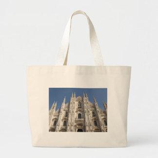 大教会堂のディディミアムのミラノのゴシック様式カテドラル教会、ミラノ ラージトートバッグ