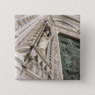 大教会堂サンタマリアDel Fioreフィレンツェイタリア 5.1cm 正方形バッジ