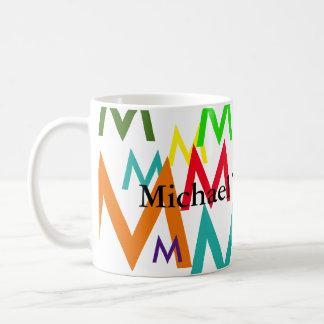 大文字の多彩なパターンを作成して下さい コーヒーマグカップ
