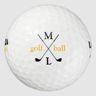 大文字。 名前入り ゴルフボール