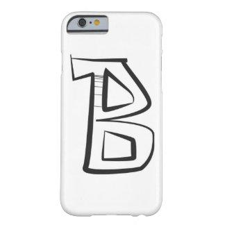 """大文字""""B""""の落書きのスタイルのiphoneの場合 Barely There iPhone 6 ケース"""