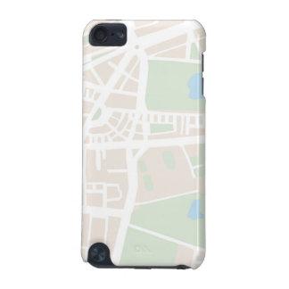 大旅行家のための抽象的な都市地図 iPod TOUCH 5G ケース
