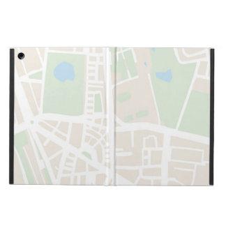 大旅行家カバーのための抽象的な都市地図 iPad AIRケース