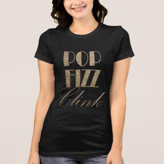 大晦日の金ゴールドおよび黒の破裂音のフィズのClink Tシャツ