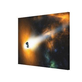 大気を通って降りる彗星 キャンバスプリント