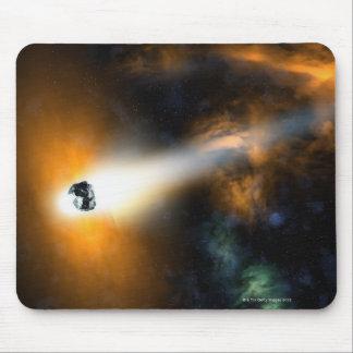 大気を通って降りる彗星 マウスパッド