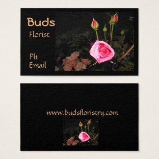 大気バラのつぼみの>Professionalの花屋カード 名刺