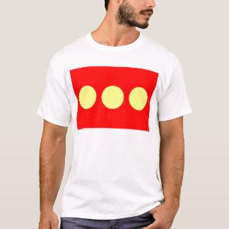 大活字のフリータウンChristianiaの旗 Tシャツ