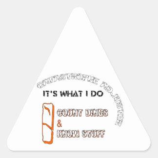 大災害の調節装置 三角形シール