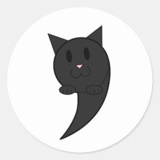 大災害(黒) - ラウンドシール