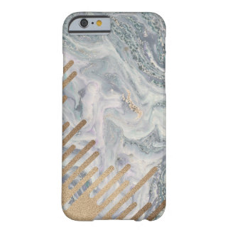 大理石および金ゴールドの滴りの電話箱 BARELY THERE iPhone 6 ケース
