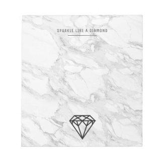 大理石が付いているダイヤモンド ノートパッド