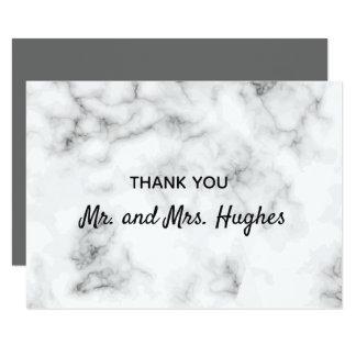 大理石のエレガントな結婚式は感謝していしています カード