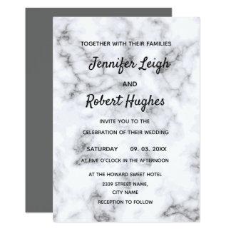 大理石のエレガントな結婚式招待状 カード