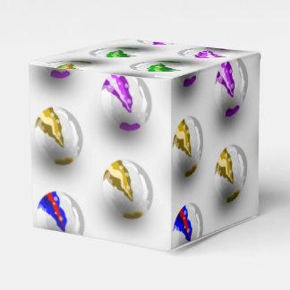 大理石のカラフルなパターン フェイバーボックス