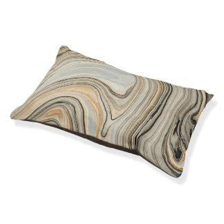 大理石のプリント犬のベッド、灰色及び金ゴールド
