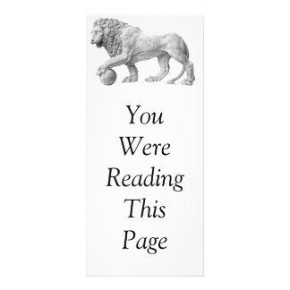 大理石のライオンのしおりのテンプレート ラックカード