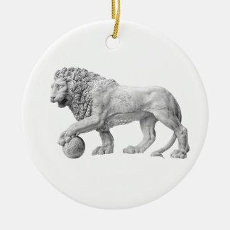 大理石のライオンのオーナメント セラミックオーナメント