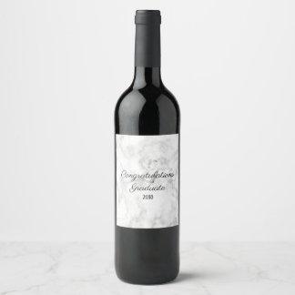 大理石のワインのラベル|のお祝いの卒業生2018年 ワインラベル