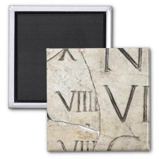大理石の古代ローマ手紙のクローズアップ マグネット