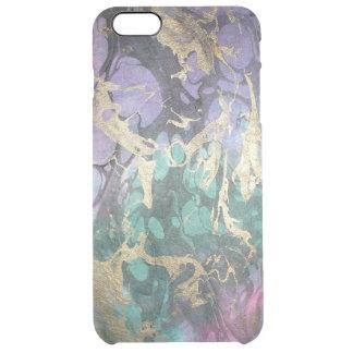 大理石の抽象的なデザイナー例 クリア iPhone 6 PLUSケース