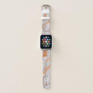 大理石の模造のな銅の金ゴールドのAppleの時計バンド Apple Watchバンド