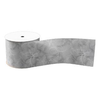 大理石の渦巻のプリント-静かに灰色 グログランリボン