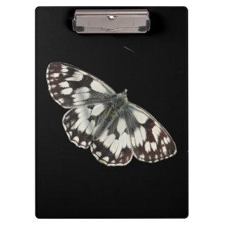 大理石の白い蝶デザインのクリップボード クリップボード
