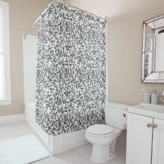 大理石の白くおよび黒いシャワー・カーテン シャワーカーテン