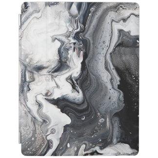 大理石の白黒の灰色の中立石板の石 iPadスマートカバー