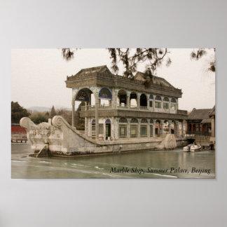 大理石の船、夏の離宮、北京 ポスター