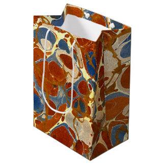 大理石の質パターン|紫系統クリーム黄色 ミディアムペーパーバッグ