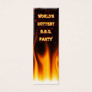 大理石の赤い世界で最も熱いBBQのパーティー スキニー名刺