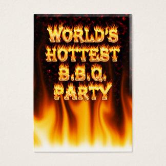 大理石の赤い世界で最も熱いBBQのパーティー 名刺