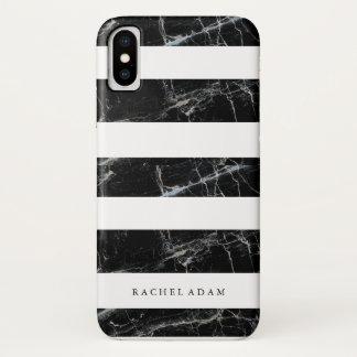 大理石の電話箱 iPhone X ケース