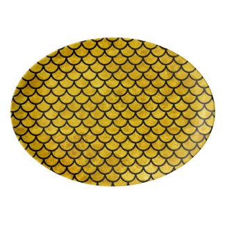 大理石の(R) SCA1 BK-YL 磁器大皿
