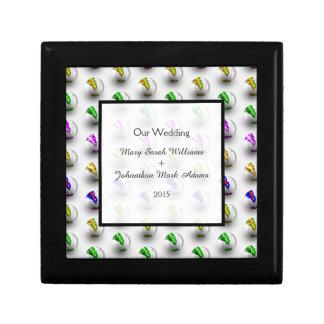 大理石カラフルなパターン結婚式の記念品 ギフトボックス