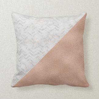 大理石及びRosegoldの枕 クッション