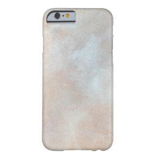 大理石模様をつけられたクリーム色の背景プラスター質の大理石 BARELY THERE iPhone 6 ケース