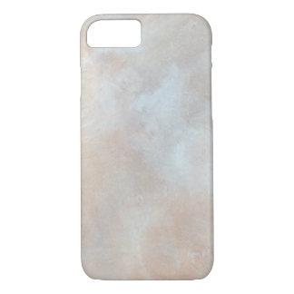 大理石模様をつけられたクリーム色の背景プラスター質の大理石 iPhone 7ケース