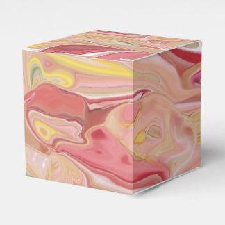 大理石模様をつけられたピンクの抽象芸術の好意箱 フェイバーボックス